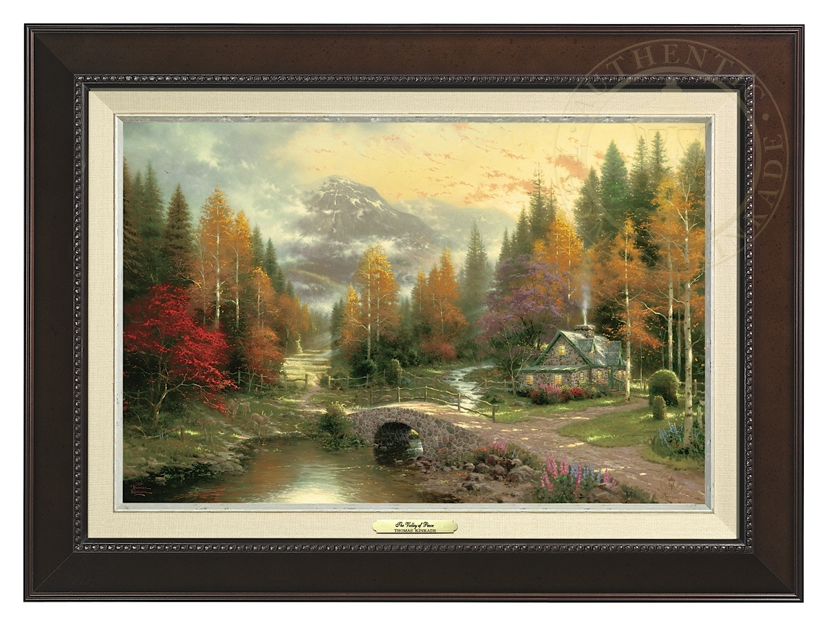 Valley of Peace, The - Canvas Classic (Espresso Frame)