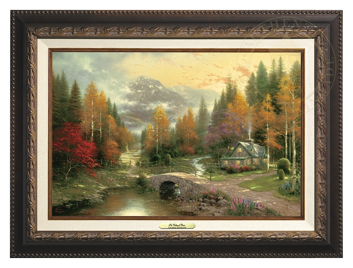 Valley of Peace, The - Canvas Classic (Aged Bronze Frame)