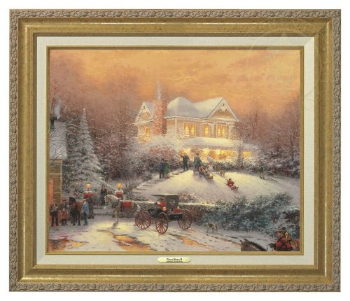 Victorian Christmas II - Canvas Classic (Gold Frame)