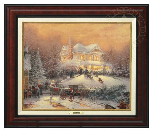 Victorian Christmas II - Canvas Classic (Burl Frame)