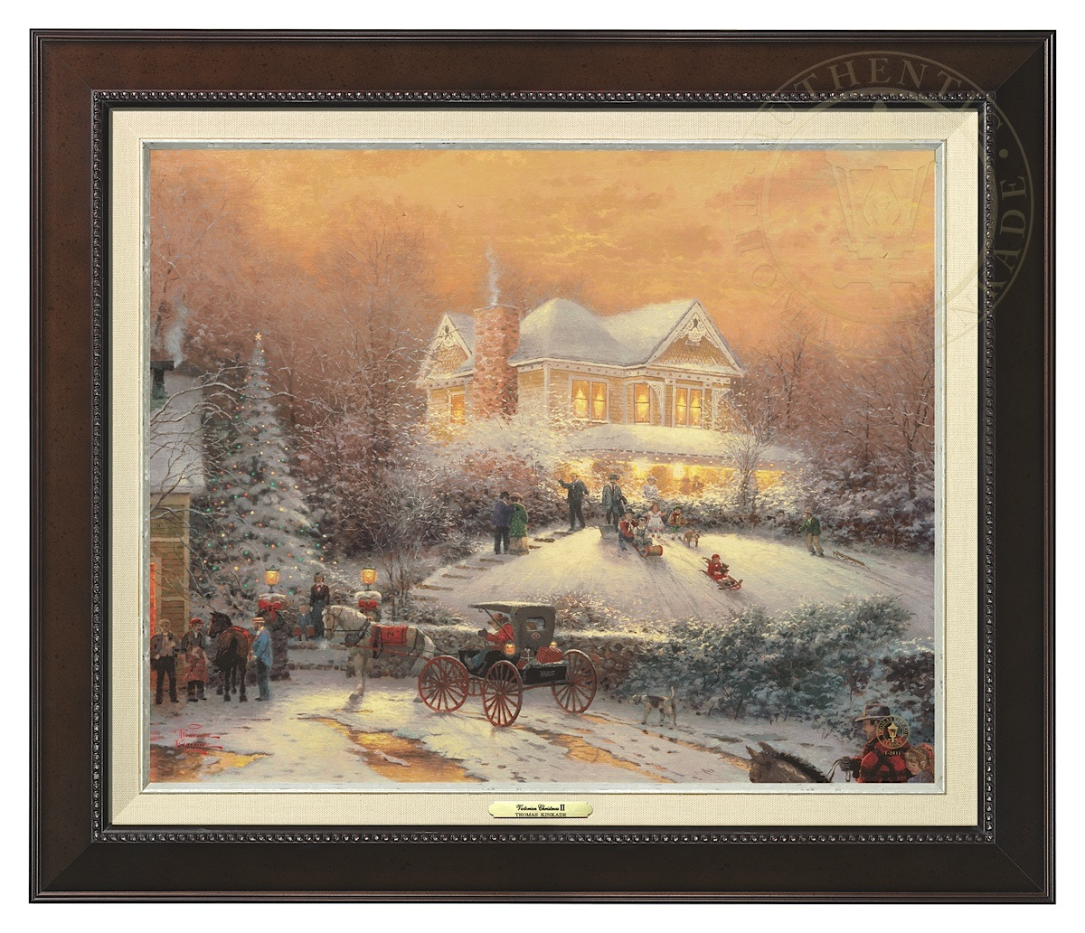 Victorian Christmas II - Canvas Classic (Espresso Frame)