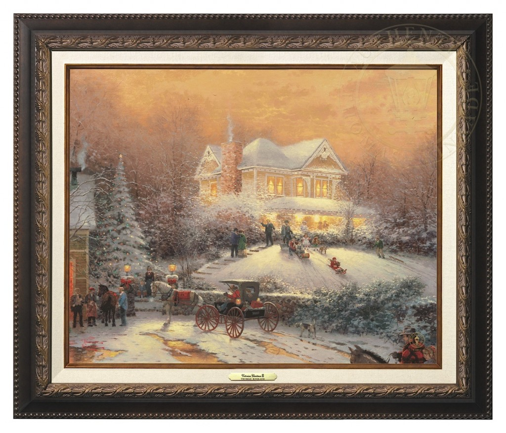 Victorian Christmas II - Canvas Classic (Aged Bronze Frame)