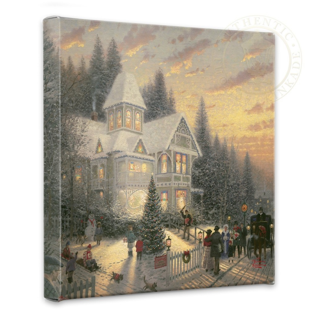 "Victorian Christmas - 14"" x 14"" Gallery Wrapped Canvas"