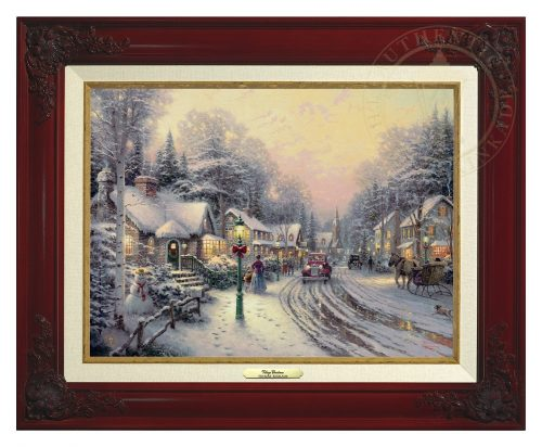 Village Christmas - Canvas Classic (Brandy Frame)