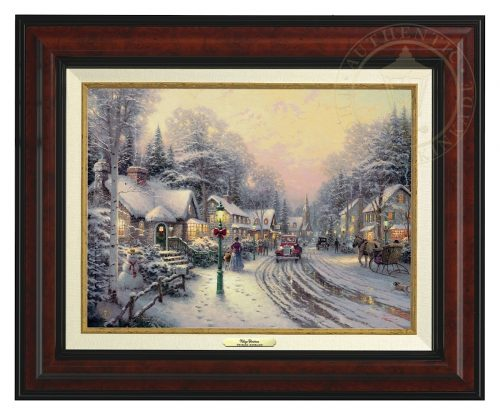 Village Christmas - Canvas Classic (Burl Frame)