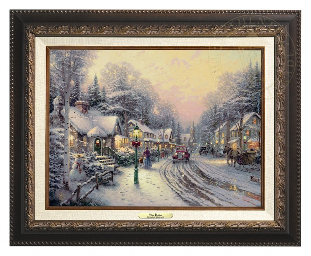 Village Christmas - Canvas Classic (Aged Bronze Frame)