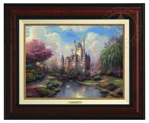 New Day At Cinderella Castle - Canvas Classic (Burl Frame)
