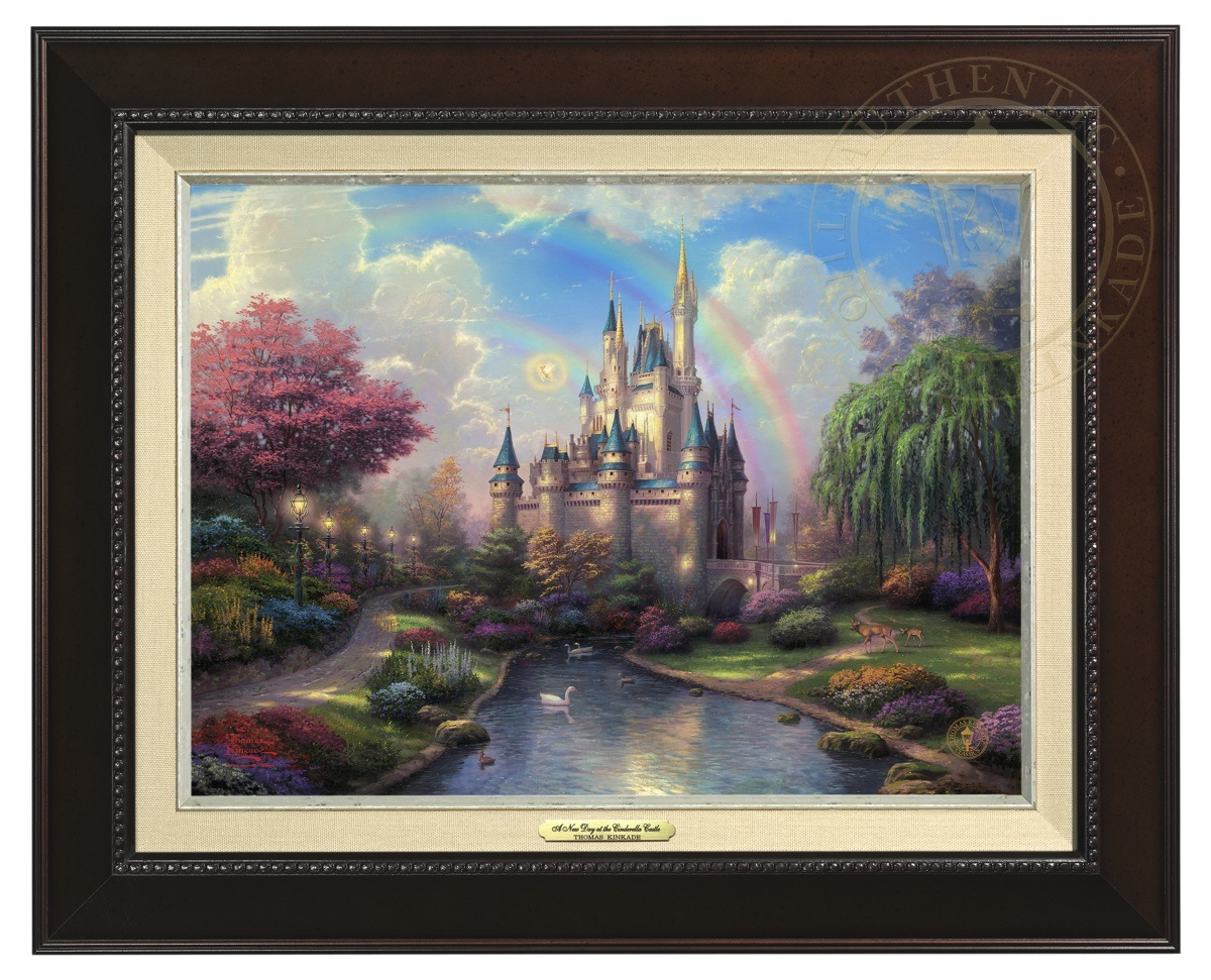 New Day At Cinderella Castle - Canvas Classic (Espresso Frame)