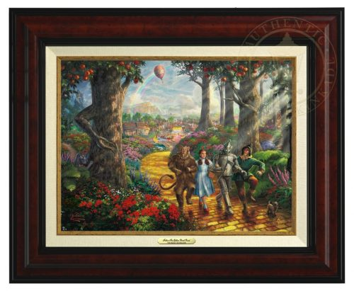Follow  The Yellow Brick Road - Canvas Classic (Burl Frame)