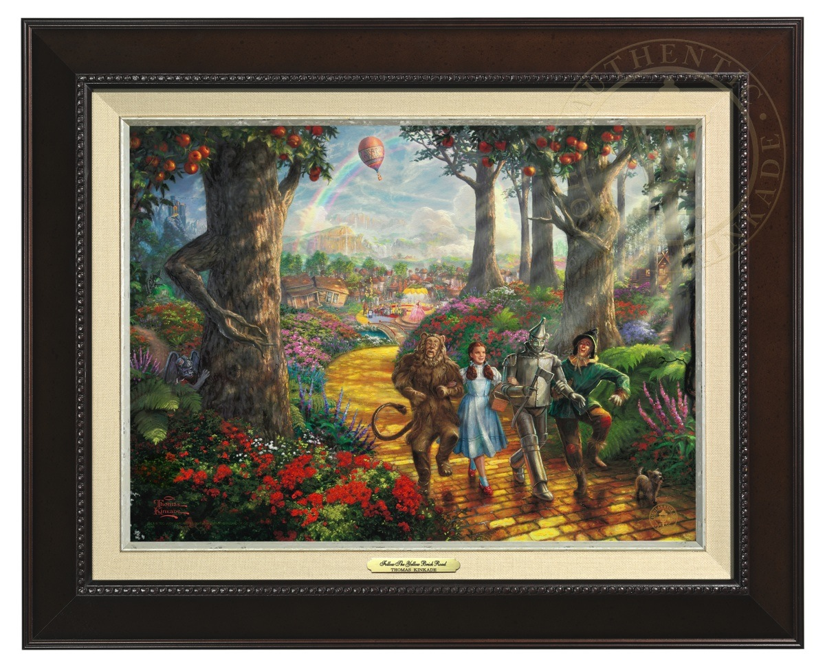 Follow  The Yellow Brick Road - Canvas Classic (Espresso Frame)