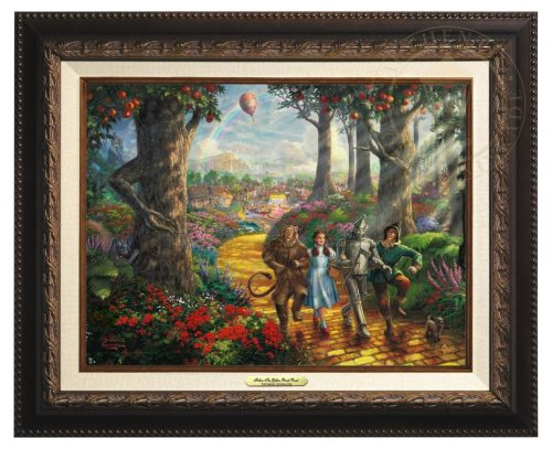 Follow  The Yellow Brick Road - Canvas Classic (Aged Bronze Frame)