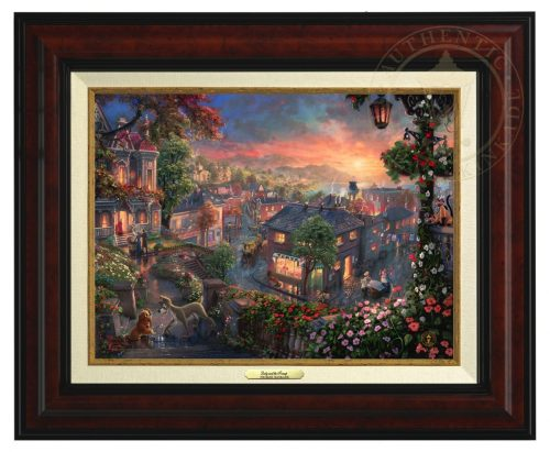 Lady and the Tramp - Canvas Classic (Burl Frame)