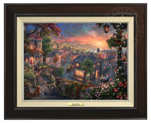 Lady and the Tramp - Canvas Classic (Espresso Frame)