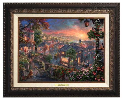 Lady and the Tramp - Canvas Classic (Aged Bronze Frame)