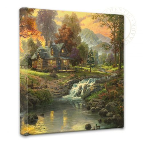 "Mountain Retreat - 14"" x 14"" Gallery Wrapped Canvas"
