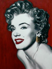 marco toro marilyn on red