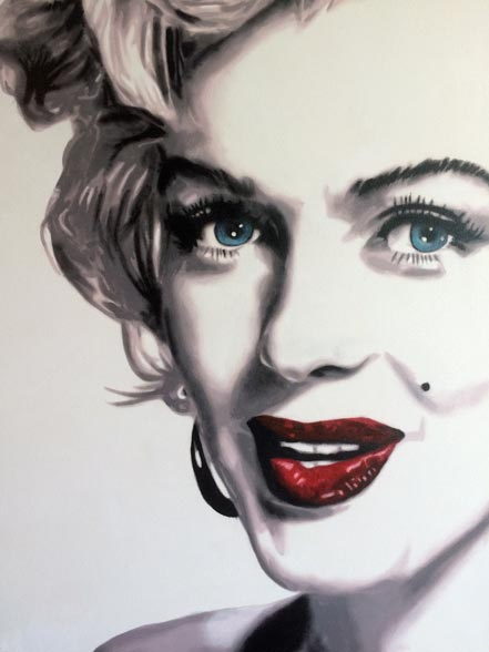 marco toro marilyn red lips iii