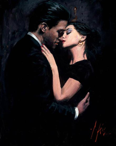 fabian perez the embrace vii