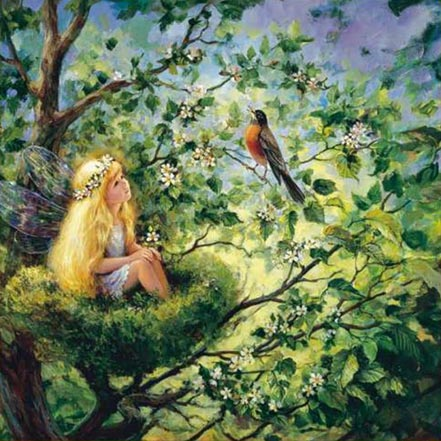 artist painter mary baxter stclair painting song of enchantment