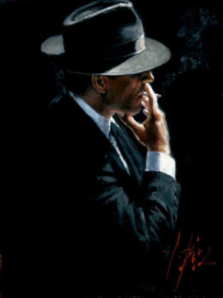 fabian perez smoking under the light ii