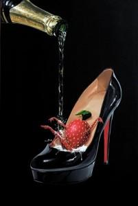 michael godard champagne shoe
