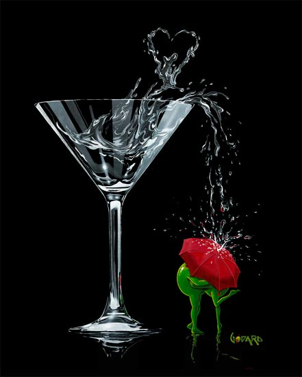 michael godard raining romance