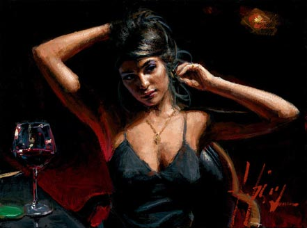 artist painter fabian perez painting saba at las brujas iv