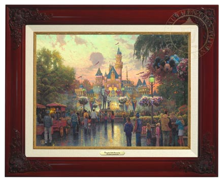 disneyland 50th anniversary canvas classics brandy