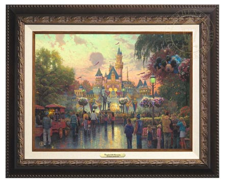 disneyland 50th anniversary canvas classics aged bronze