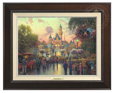 disneyland 50th anniversary canvas classics espresso