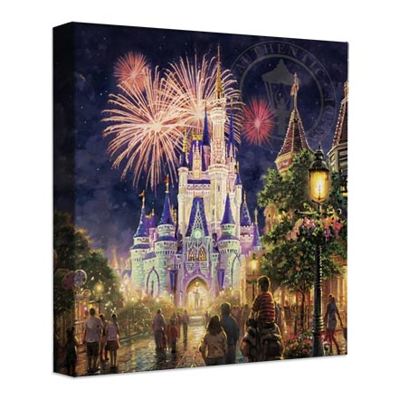 "Main Street, U.S.A.® Walt Disney World® Resort – 14"" x 14"" Gallery Wrapped Canvas"