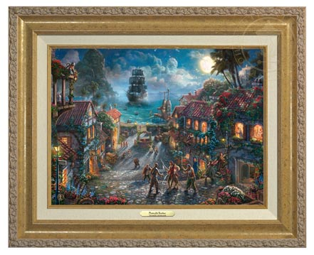 Pirates Of The Caribbean Canvas Classic Gold Frame Village Gallery
