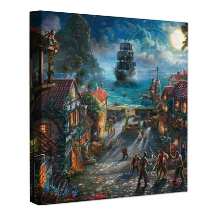 "Pirates of the Caribbean – 14"" x 14″ Gallery Wrapped Canvas"