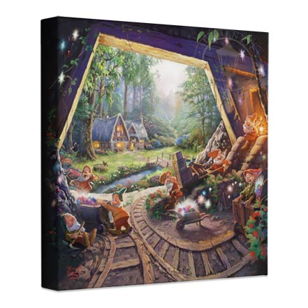 Snow White and the Seven Dwarfs – 14″ x 14″ Gallery Wrapped Canvas