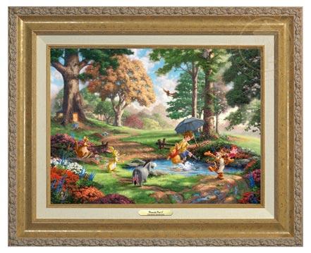 winnie the pooh i canvas classics gold
