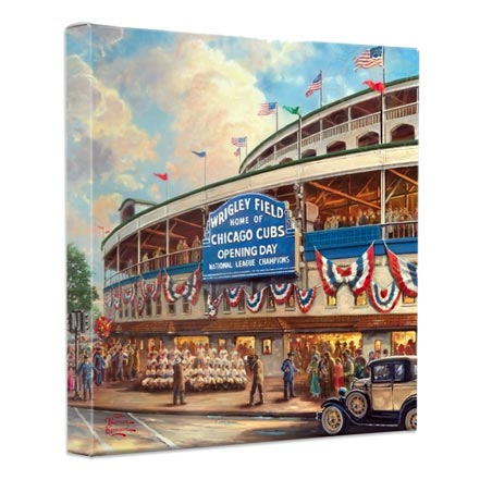 Wrigley Field™: Memories and Dreams – 14″ x 14″ Gallery Wrapped Canvas