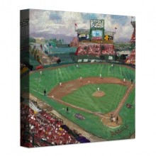 World Series™, American League Champions, Anaheim Angels – 14″ x 14″ Gallery Wrapped Canvas