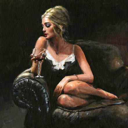 fabian perez sally on the couch