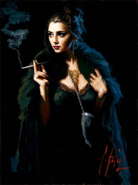 fabian perez blue rabbit lucy