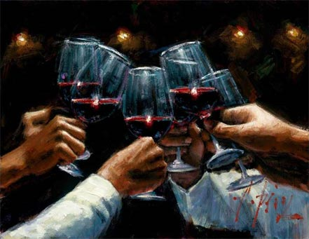 fabian perez for a better life red wine with lights