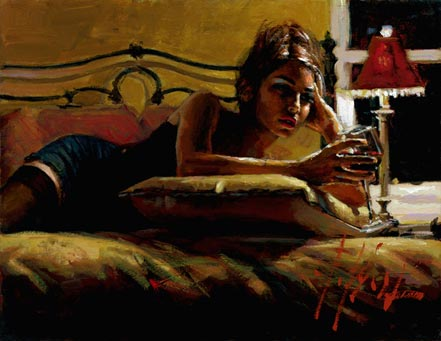 fabian perez giorgina in yellow room