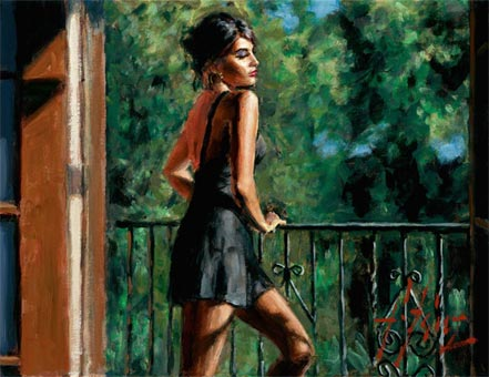 fabian perez saba in the sun