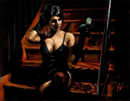 fabian perez saba with mirror
