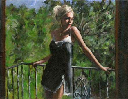 fabian perez sally in the sun