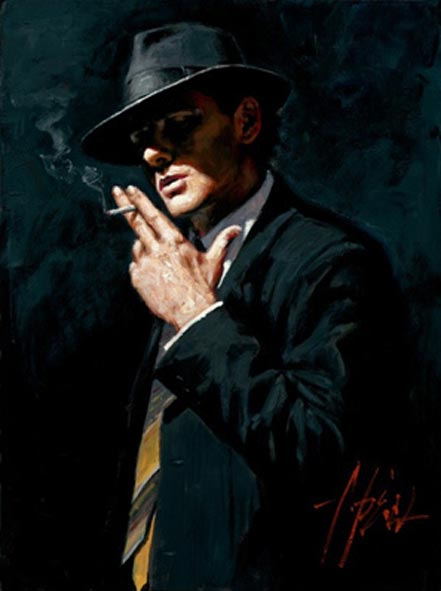 fabian perez smoking under the light iv