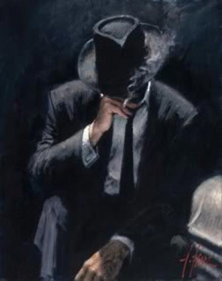 fabian perez smoking under the light
