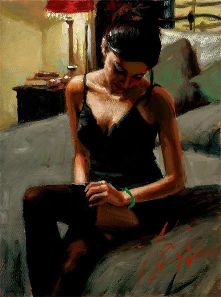 fabian perez tess on bed ii