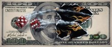 michael godard $100 bill snake eyes