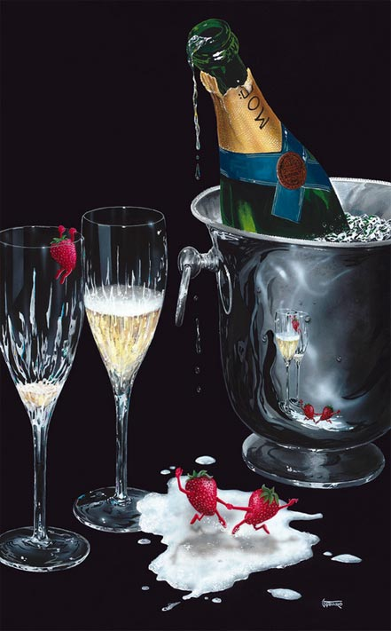 michael godard champagne tango