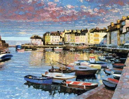 howard behrens sunset at le palais